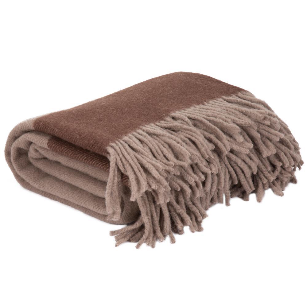 Brown 100% Australian Wool Throw