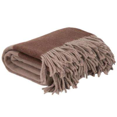 Brown 100% Australian Wool Throw