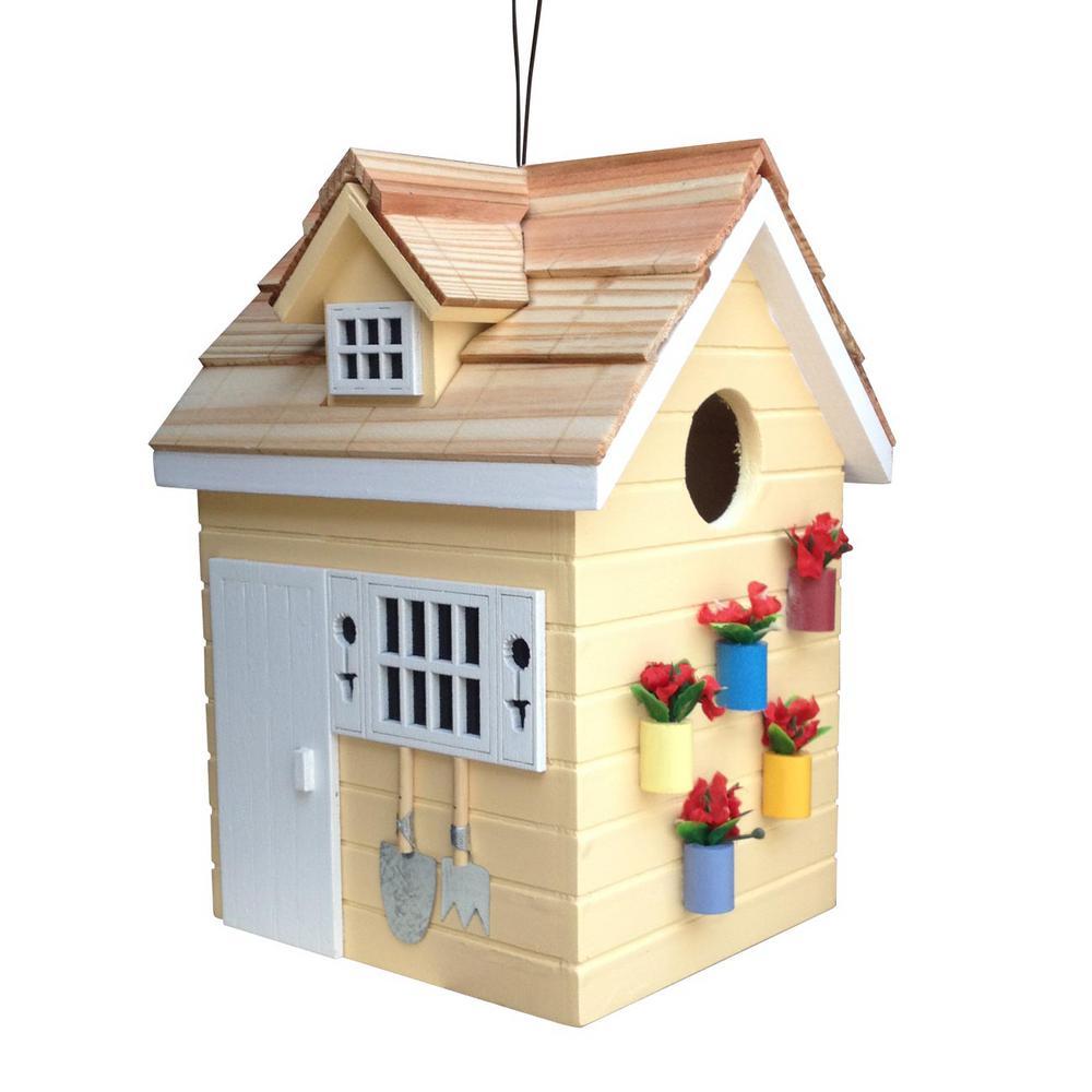 Potting Shed Yellow Birdhouse