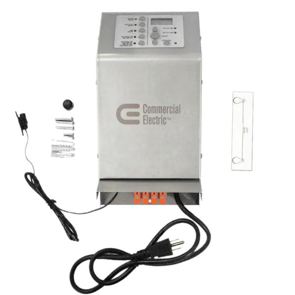Low Voltage 200-Watt Stainless Steel Landscape Transformer