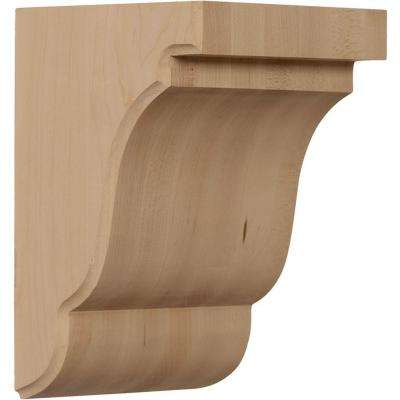 5-1/4 in. x 5 in. x 7-1/2 in. Unfinished Cherry Bedford Corbel