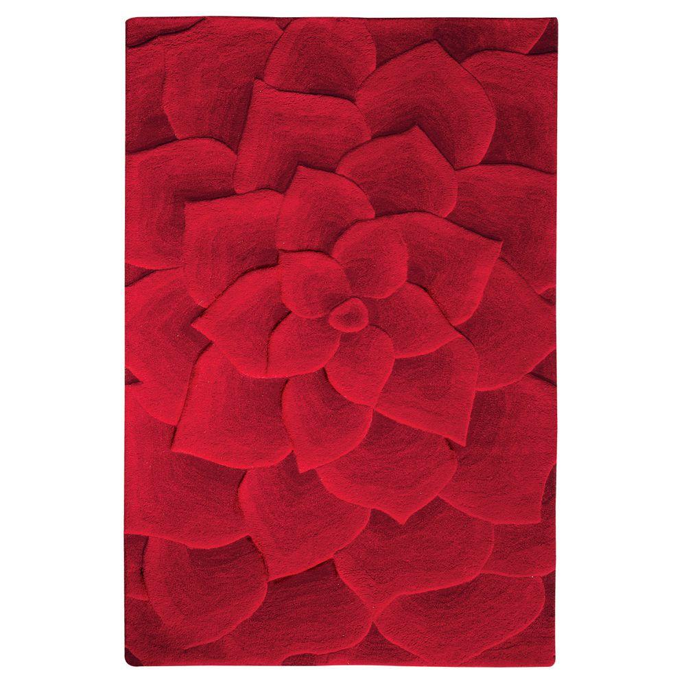 Home Decorators Collection Corolla Red 5 ft. 3 in. x 8 ft. 3 in. Area Rug