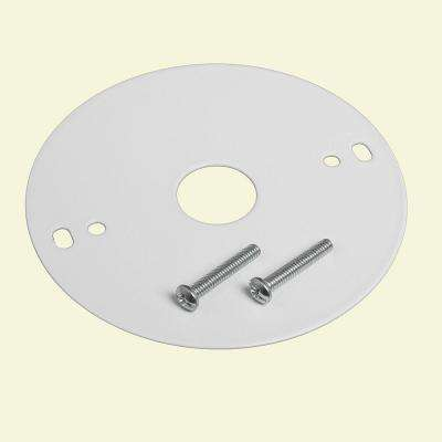 4 in. White Mounting Plate with Mounting Screws