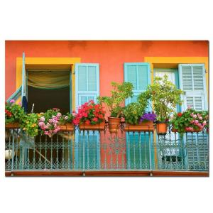24 inch x 32 inch Veranda Garden Canvas Artwork by