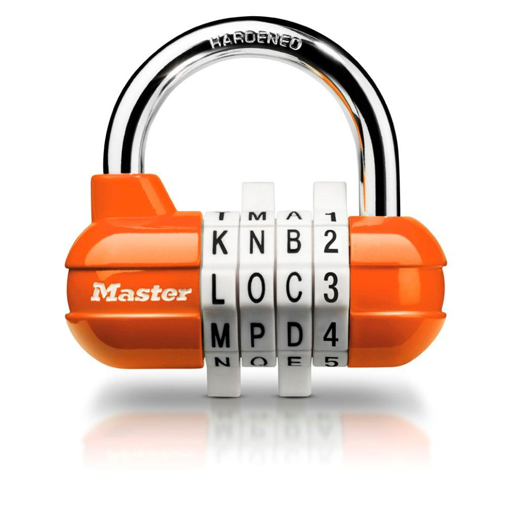 Master Lock Set-Your-Own Combination 4-Dial Word Combination Lock-DISCONTINUED