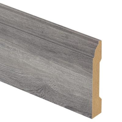 Disher Oak 9/16 in. Thick x 3-1/4 in. Wide x 94 in. Length Laminate Base Molding