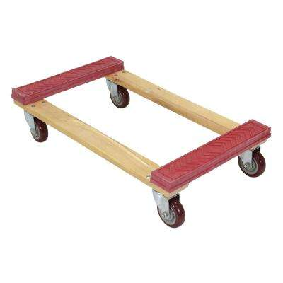 18 in. x 30 in. 1,200 lbs. Hardwood Dolly Rubber Ends