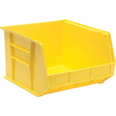Ultra Series Stack and Hang 8.9 Gal. Storage Bin in Yellow (3-Pack)