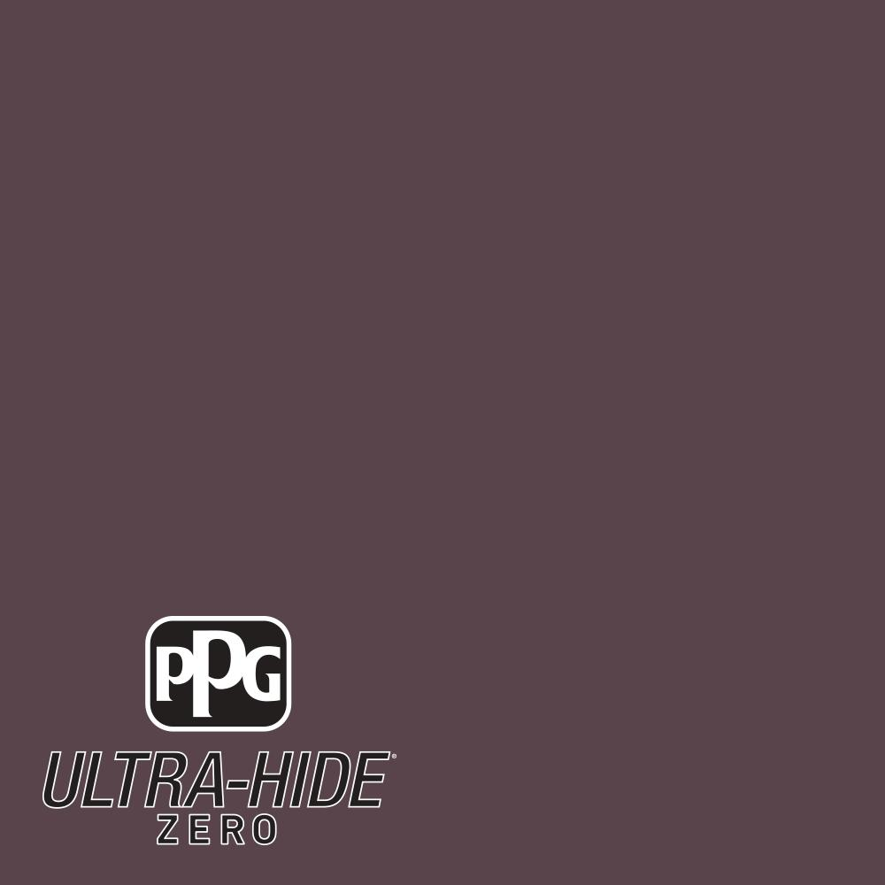 PPG 1 gal. #HDPR13D Ultra-Hide Zero Black Currant Semi-Gloss Interior Paint
