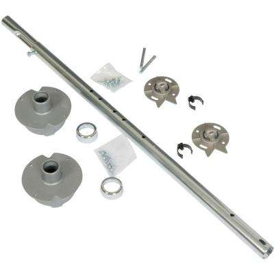 5.19 in. H x 7.5 in. x 18.75 in. Chrome/Plastic Hardware Pack for Full Round Wood Lazy Susans