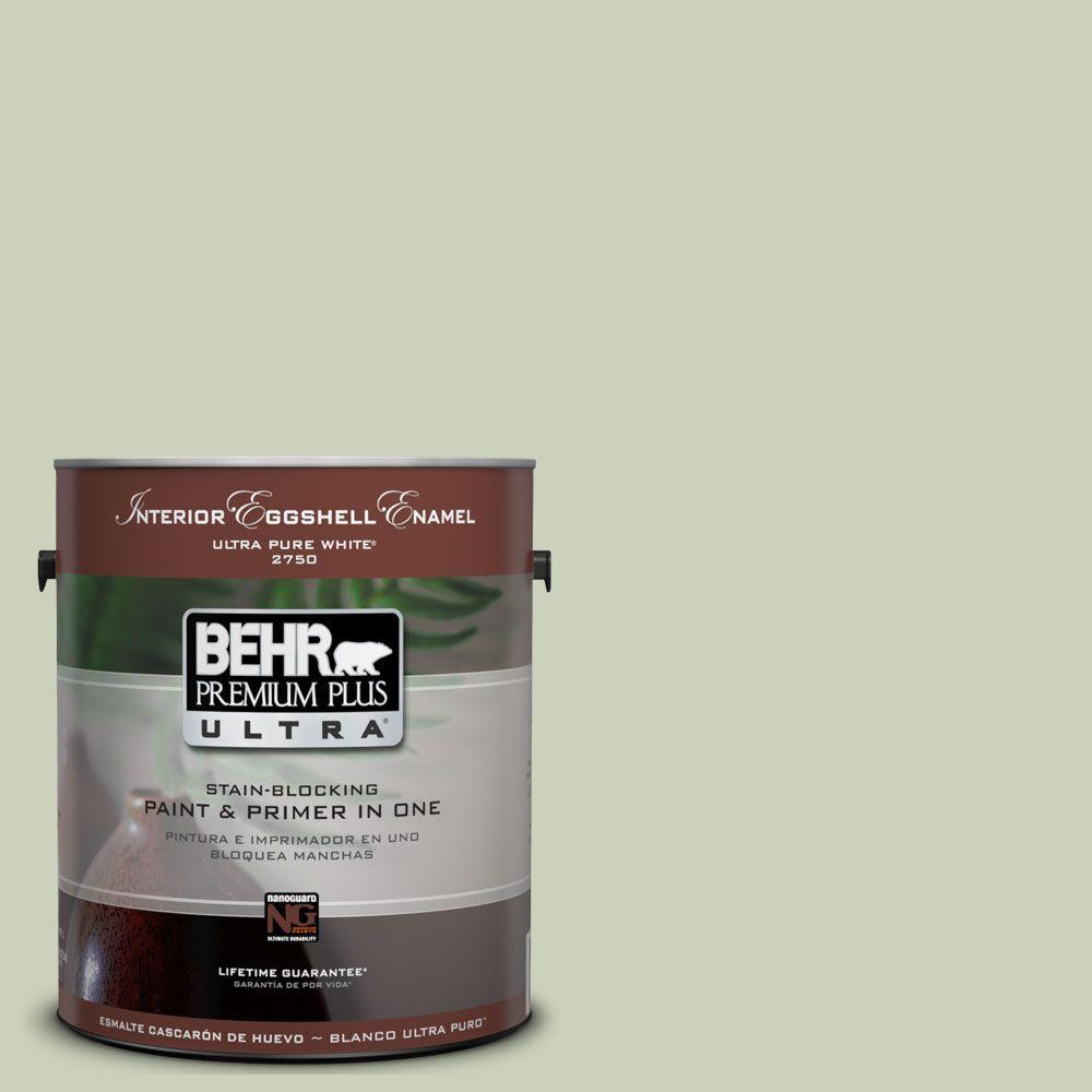 BEHR Premium Plus Ultra Gal UL Chinese Jade Eggshell - Behr bathroom paint home depot