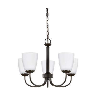 Bannock 5-Light Heirloom Bronze Chandelier with LED Bulbs