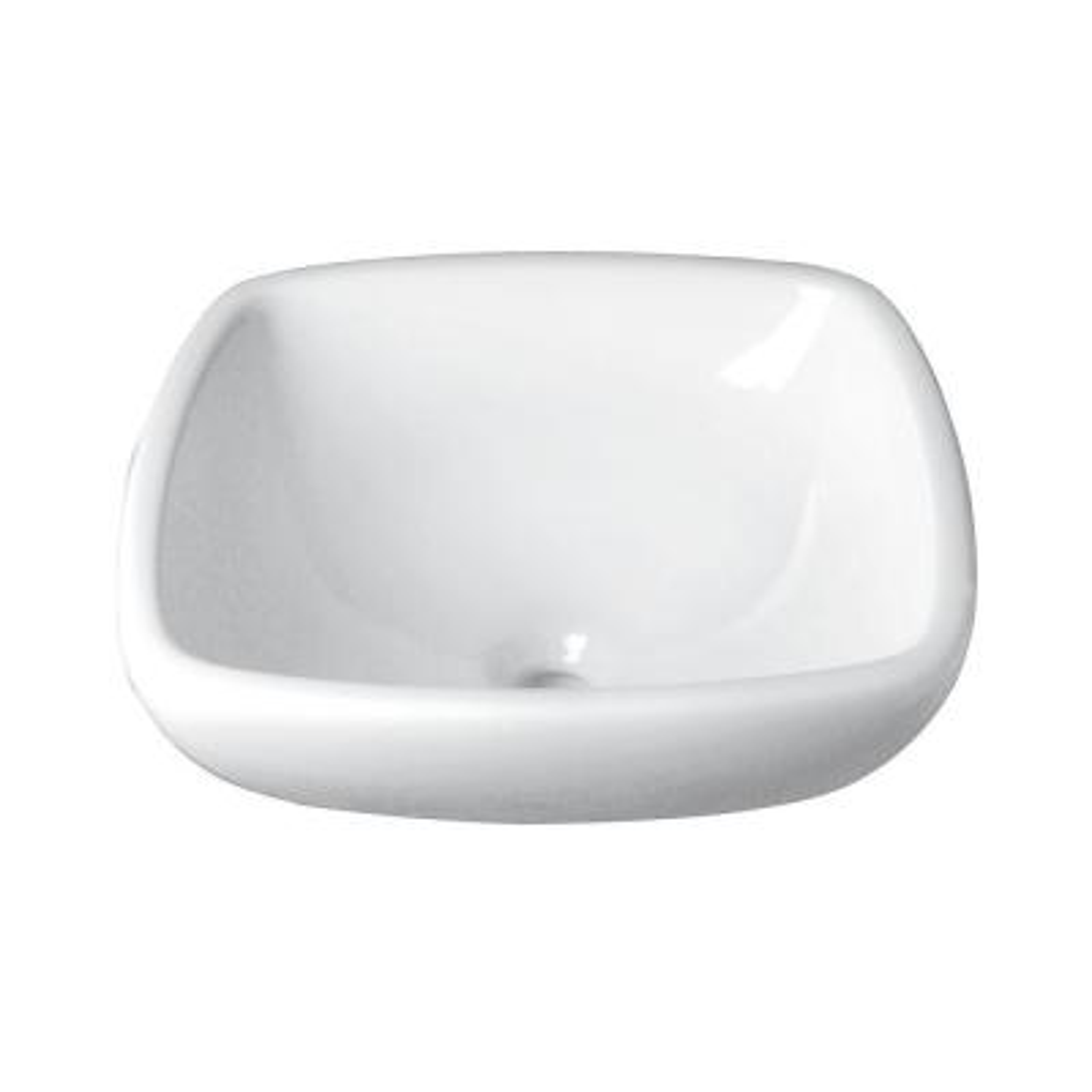 8545306ec56 Glacier Bay Square Vitreous China Vessel Sink in White-13-0065-W ...