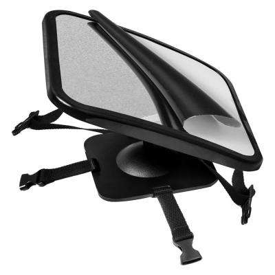 360 Adjustable Baby Car Mirror for Rear View Facing Back Seat for Child in Car Seat with Double Straps