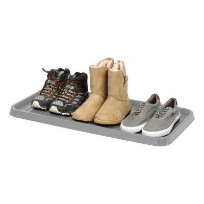 3-Pair Shoe Organizer Tray in Gray (2-Pack)
