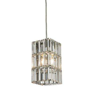 Brussels Collection 1-Light Polished Chrome Mini Pendant