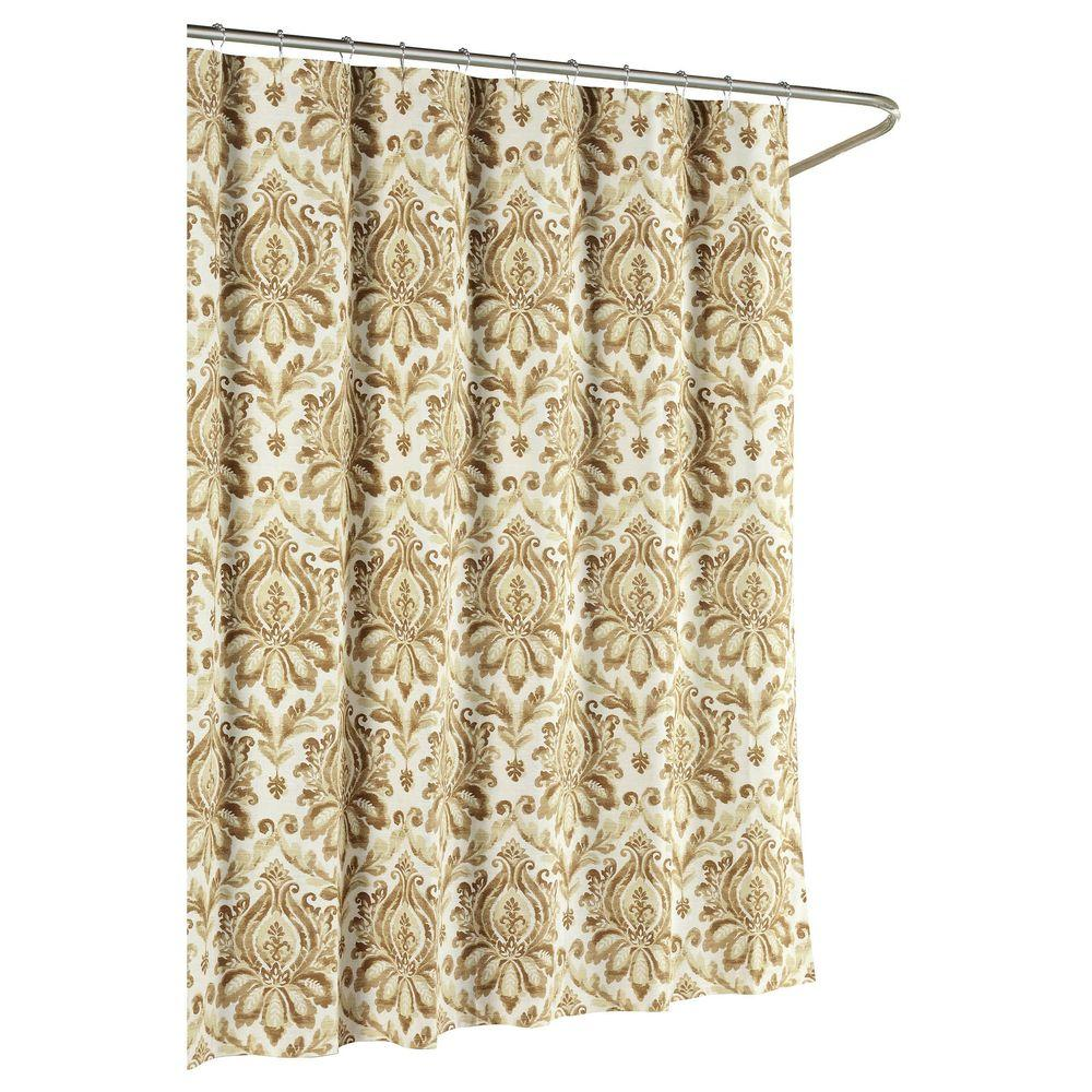 curtain product farmhouse taupe shower farmhousetickingtaupeshowercurtain classics curtains ticking jandb piper