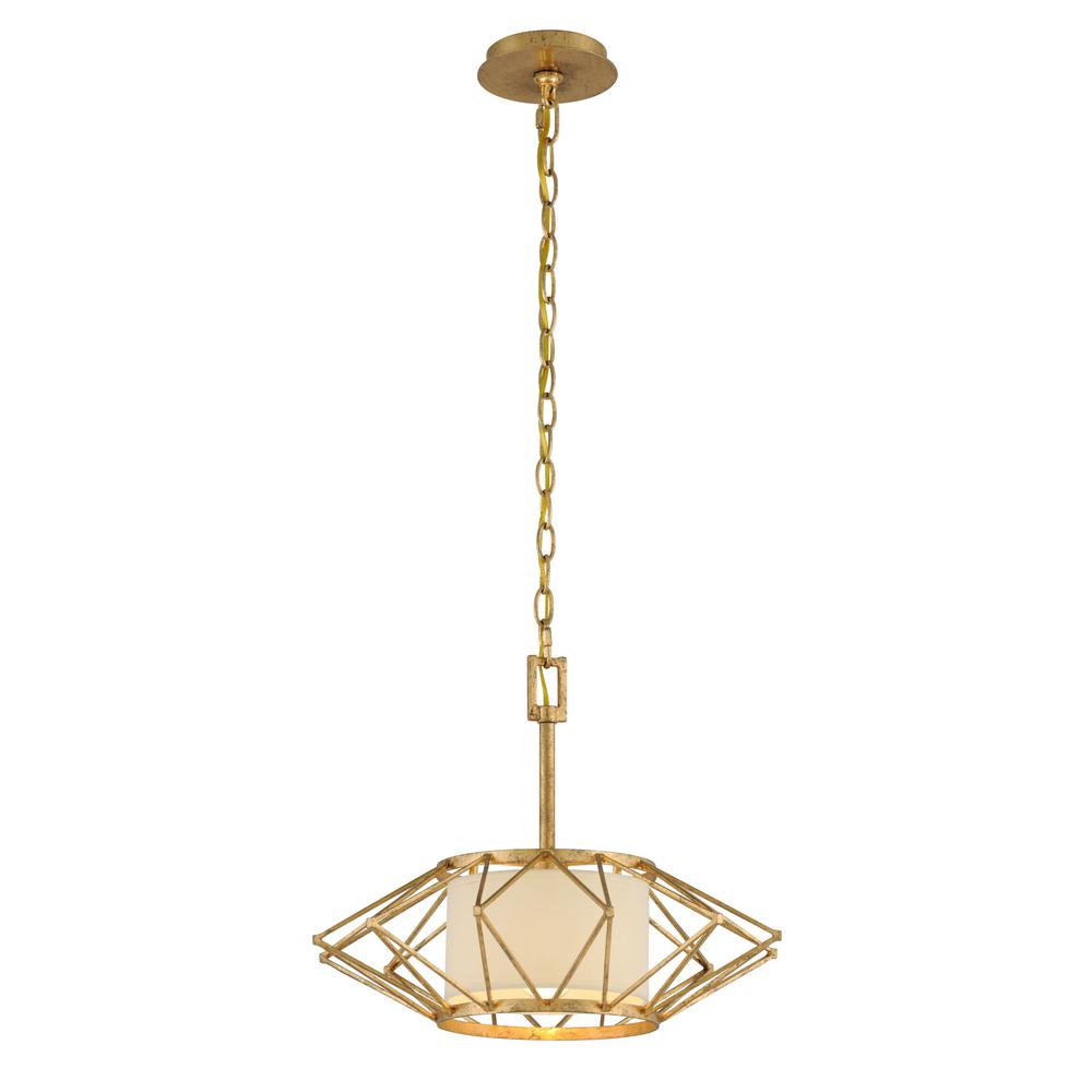 Troy Lighting Calliope 1 Light Rustic Gold Leaf Pendant F4863   The Home  Depot Design Ideas