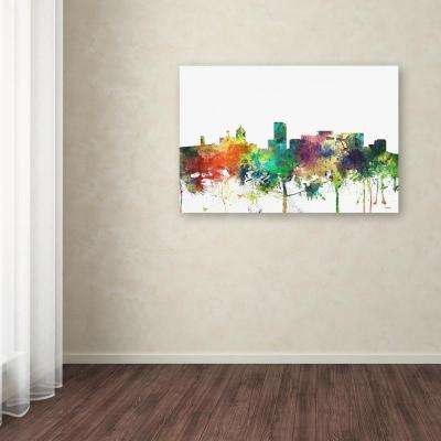 "30 in. x 47 in. ""Portland Oregon Skyline SP"" by Marlene Watson Printed Canvas Wall Art"