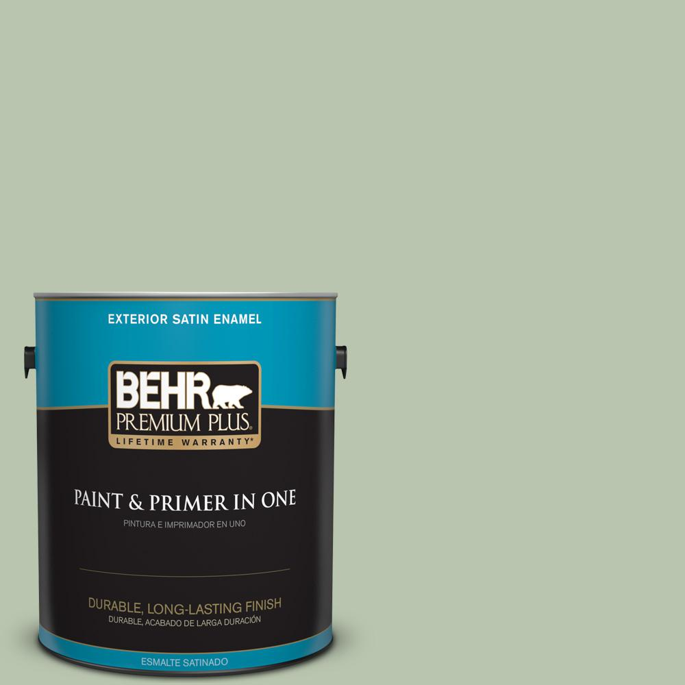 1 gal. #PPU11-10 Whitewater Bay Satin Enamel Exterior Paint
