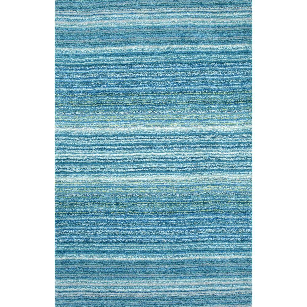 Nuloom Clie Striped Shag Sky Blue 8 Ft X 10 Area Rug