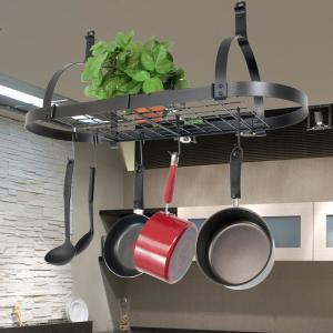 Enclume Rack It Up Oval Ceiling Pot Rack Steel Gray by Enclume