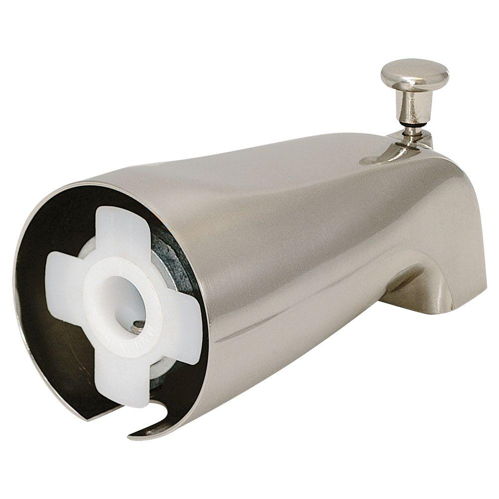 EZ-FLO Slide-On Diverter Spout, Brushed Nickel-15088 - The Home Depot