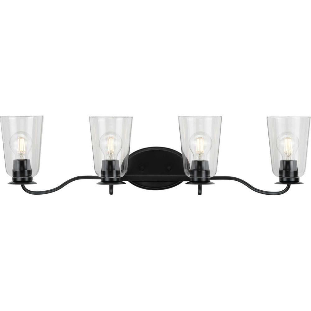 Durrell  4-Light Black Bath Light
