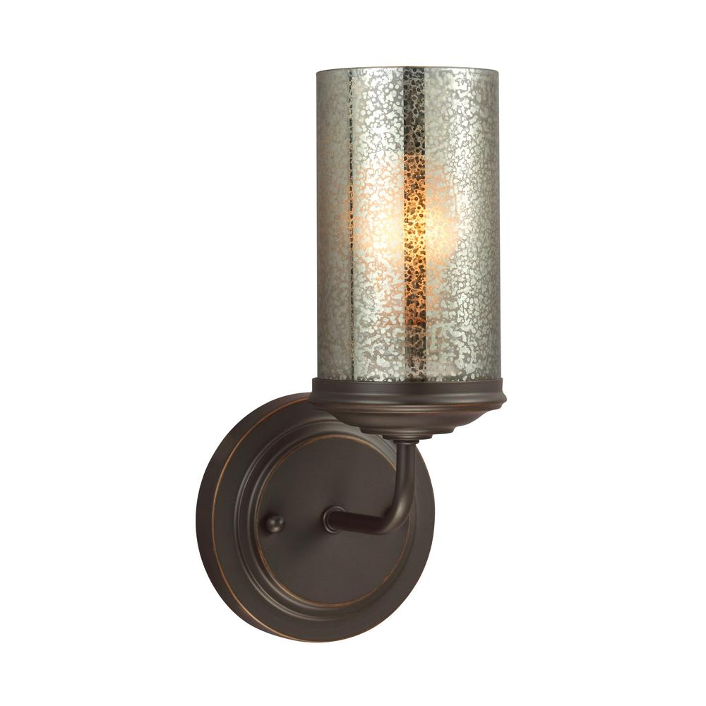Sfera 1-Light Autumn Bronze Bath Light with LED Bulb