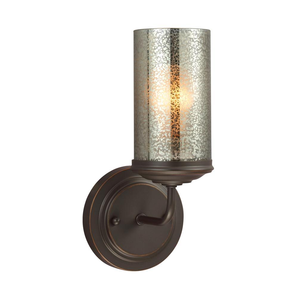Sfera 5 in. W. 1-Light Autumn Bronze Bath Light with LED Bulb