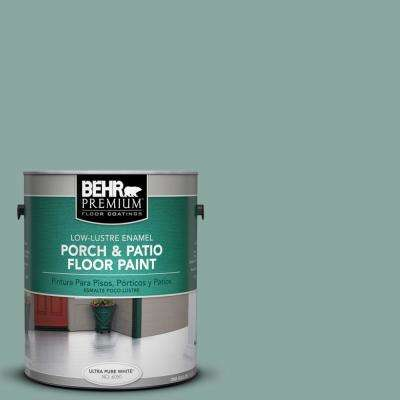 1 gal. #S430-4 Green Meets Blue Low-Lustre Porch and Patio Floor Paint
