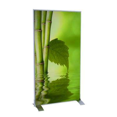 Paperflow easyScreen Vertical Divider Screen in Bamboo with Leaf