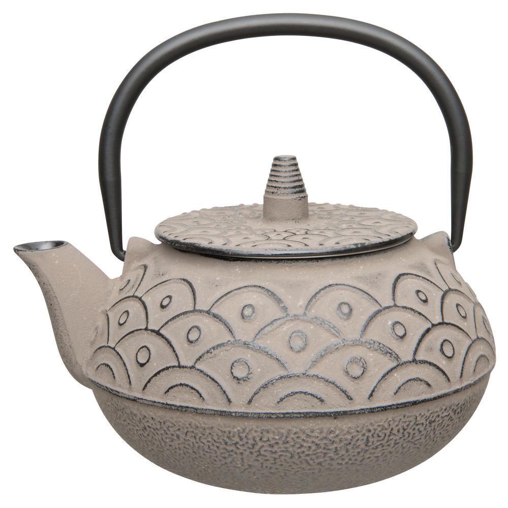 Studio 8 Qt. Cast Iron Grey Teapot