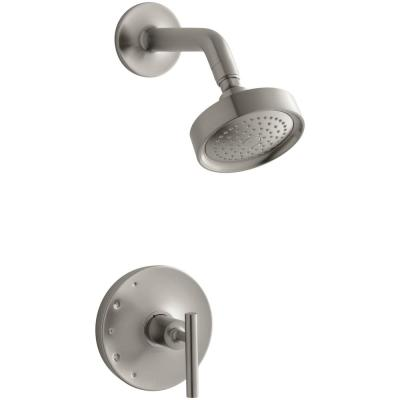 Purist 1-Handle Tub and Shower Faucet Trim Kit with Lever Handle in Vibrant Brushed Nickel (Valve Not Included)