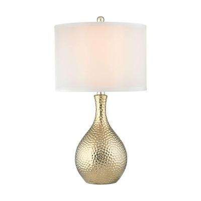 Soleil 22 in. Gold Plate Table Lamp