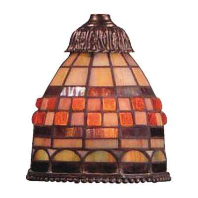 Mix-N-Match 1-Light Jewelstone Tiffany Glass Shade