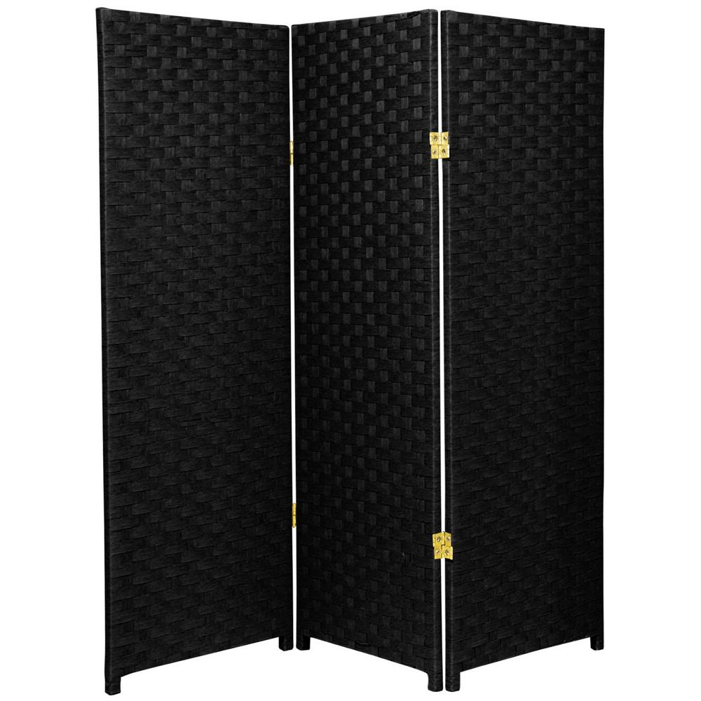 4 ft. Black 3-Panel Room Divider