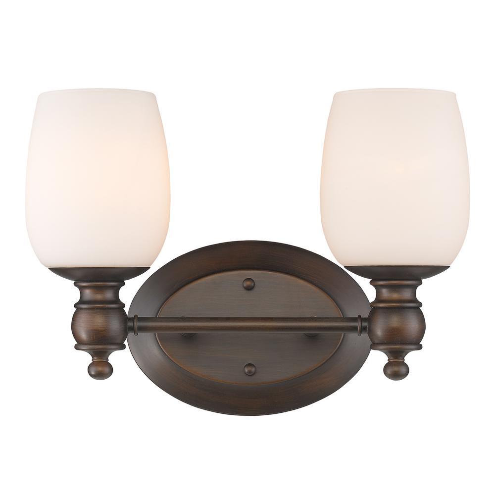 Constance 2-Light Rubbed Bronze Bath Light