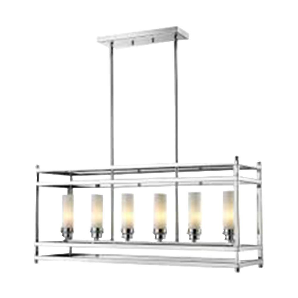 Lawrence 6-Light Chrome Candelabra Ceiling Pendant