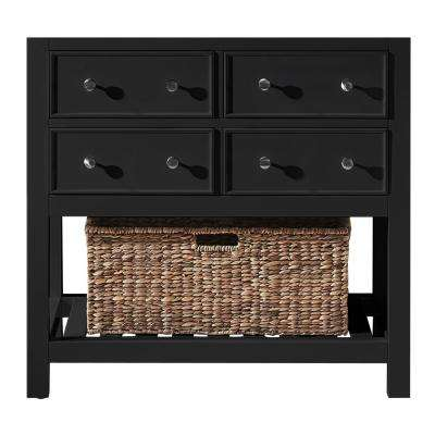 Elodie 35.2 in. W x 21.7 in. D x 33.5 in. H Bath Vanity Cabinet Only in Espresso