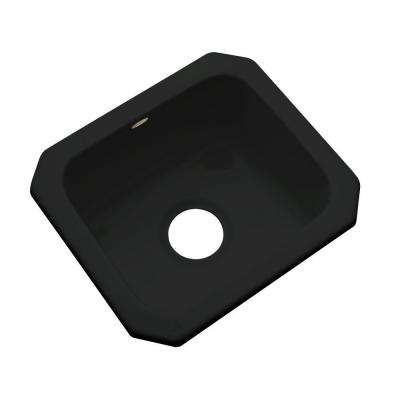 Manchester Undermount Acrylic 16 in. 0-Hole Single Bowl Entertainment Sink in Black