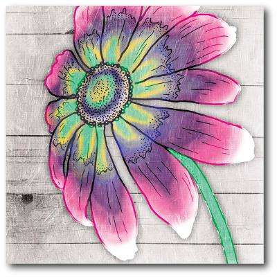 "16 in. x 16 in. ""Pastel petals II"" Gallery Wrapped Canvas Printed Wall Art"