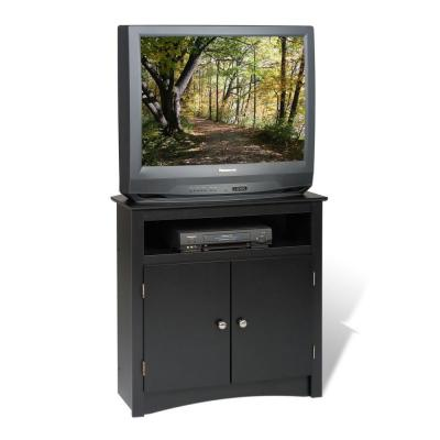 AV 31.5 in. Black Composite TV Stand Fits TVs Up to 32 in. with Storage Doors