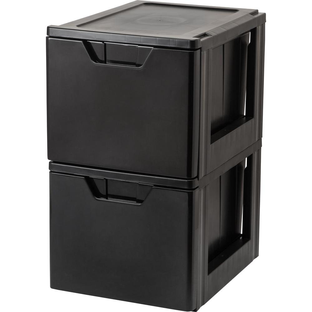 15.38 in. x 13.5 in. Black Stacking File Drawer