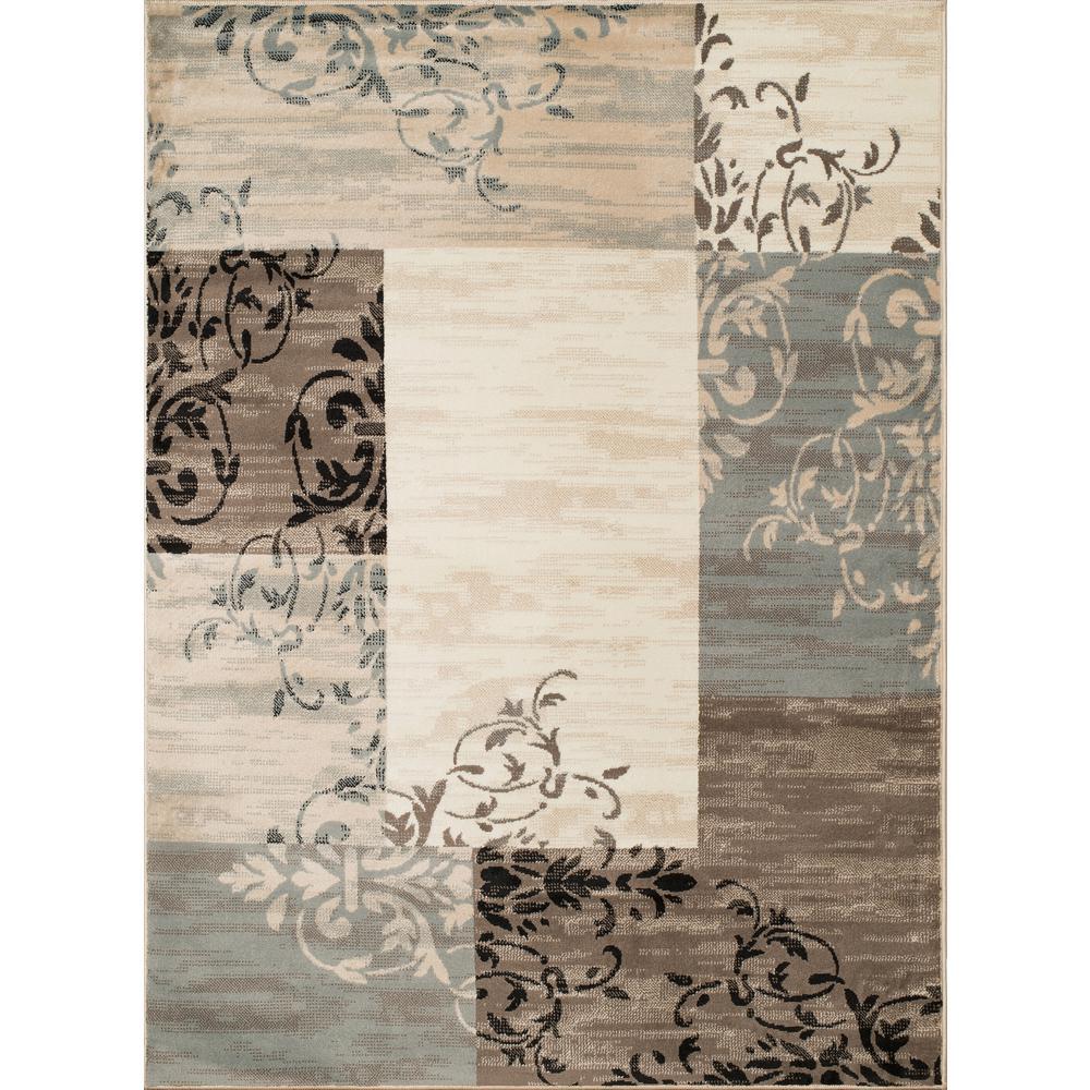 Tiffany Laramie Blue/Grey 8 ft. x 11 ft. Oversize Area Rug