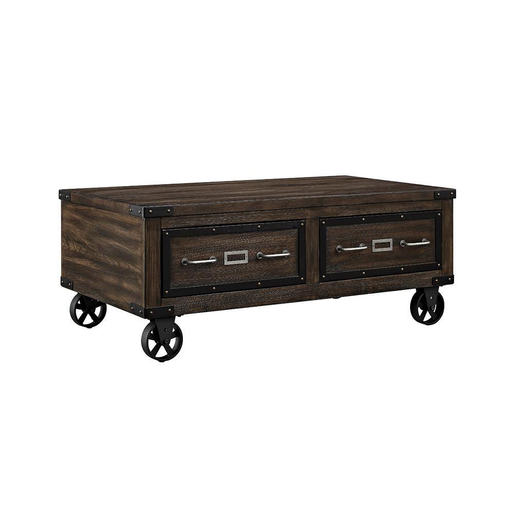 Internet #300118398. +2. Acme Furniture Kailas Dark Oak Built In Storage Coffee  Table
