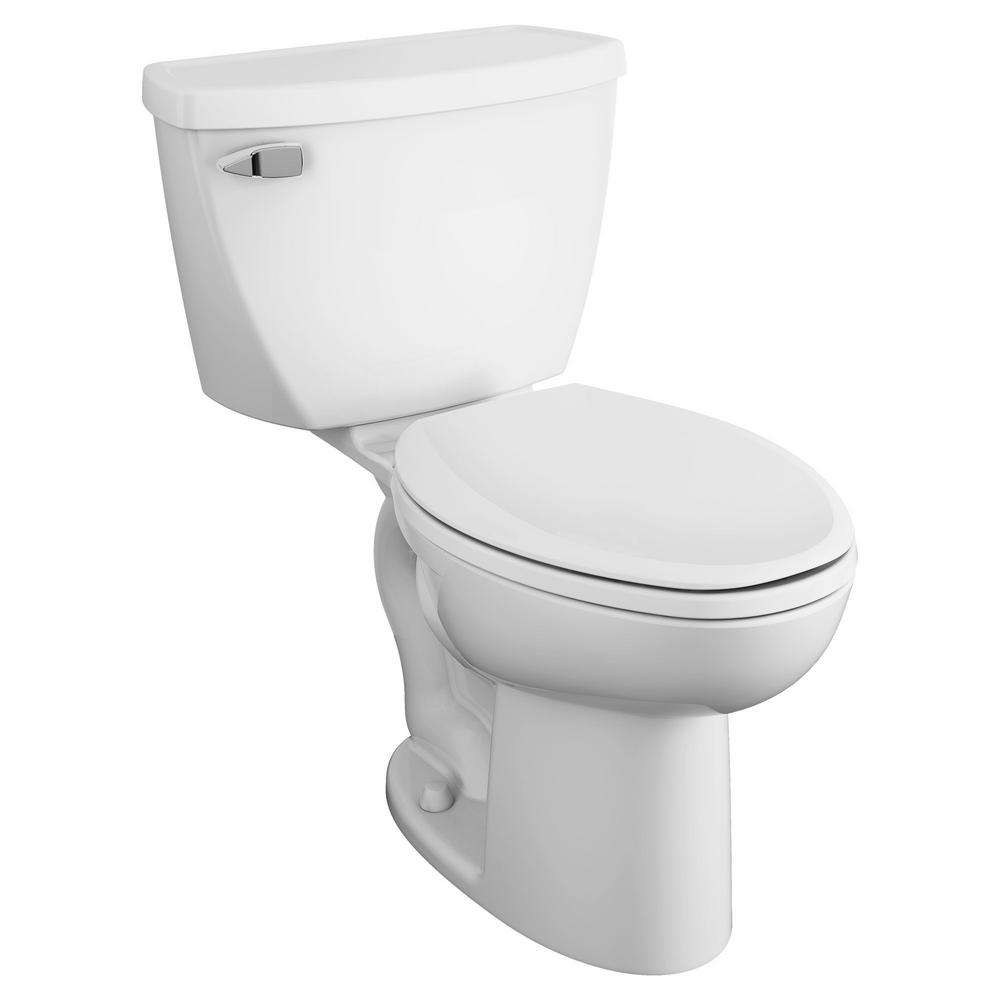 American Standard Cadet 2-Piece 1.6 GPF Tall Height Pressure-Assisted Elongated Toilet in White, Seat Not Included