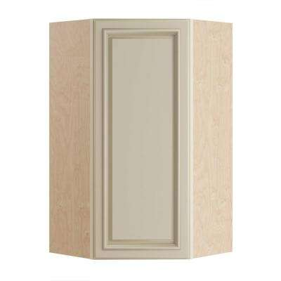 Holden Assembled 24x42x12 in. Single Door Hinge Left Wall Kitchen Angle Cabinet in Bronze Glaze
