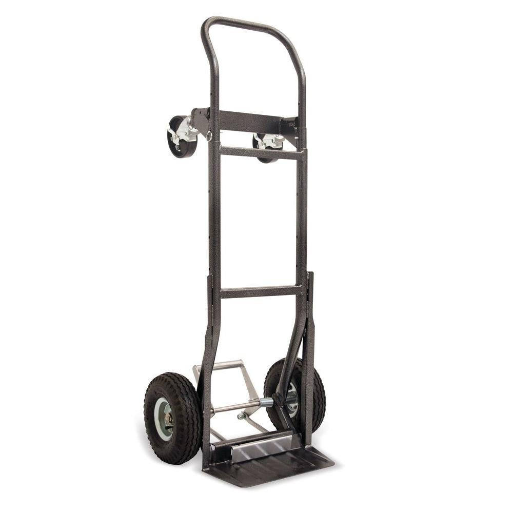 MoJack 800 lb. Capacity 5-in-1 Steel Hand Truck with LoadKicker
