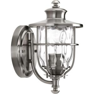 Beacon Collection 1 Light 6 Inch Stainless Steel Outdoor Wall Lantern